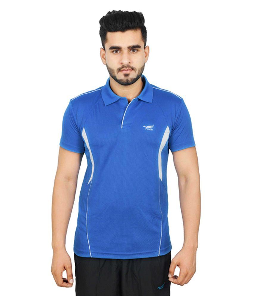 NNN Blue Half Sleeves Dry Fit Men's T-shirt