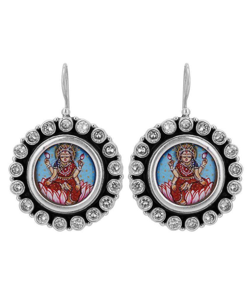 Aarohee 92.5 Silver Zircon Hangings