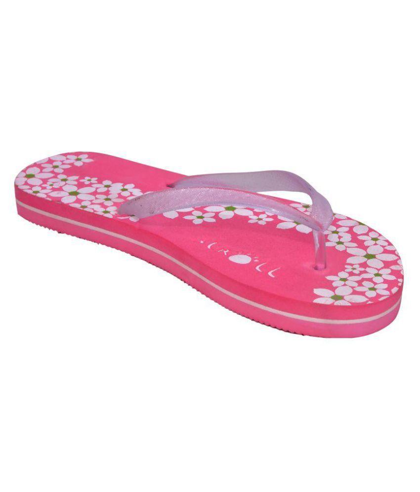 Stroll White Slides Flip Flop
