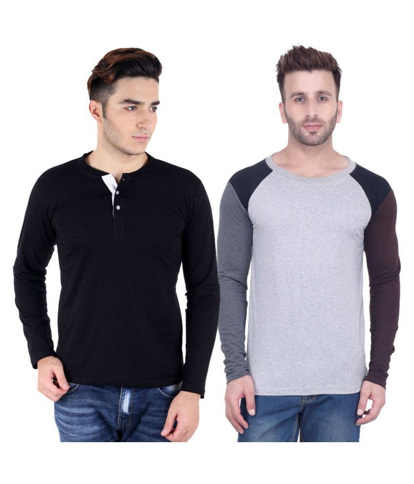 Kay Dee Creations Multi Henley T-Shirt Pack of 2