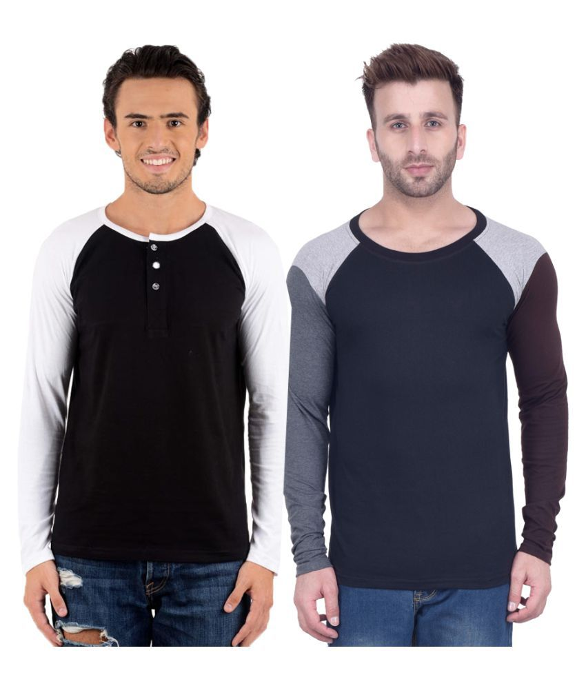 Kay Dee Creations Multi Round T-Shirt Pack of 2