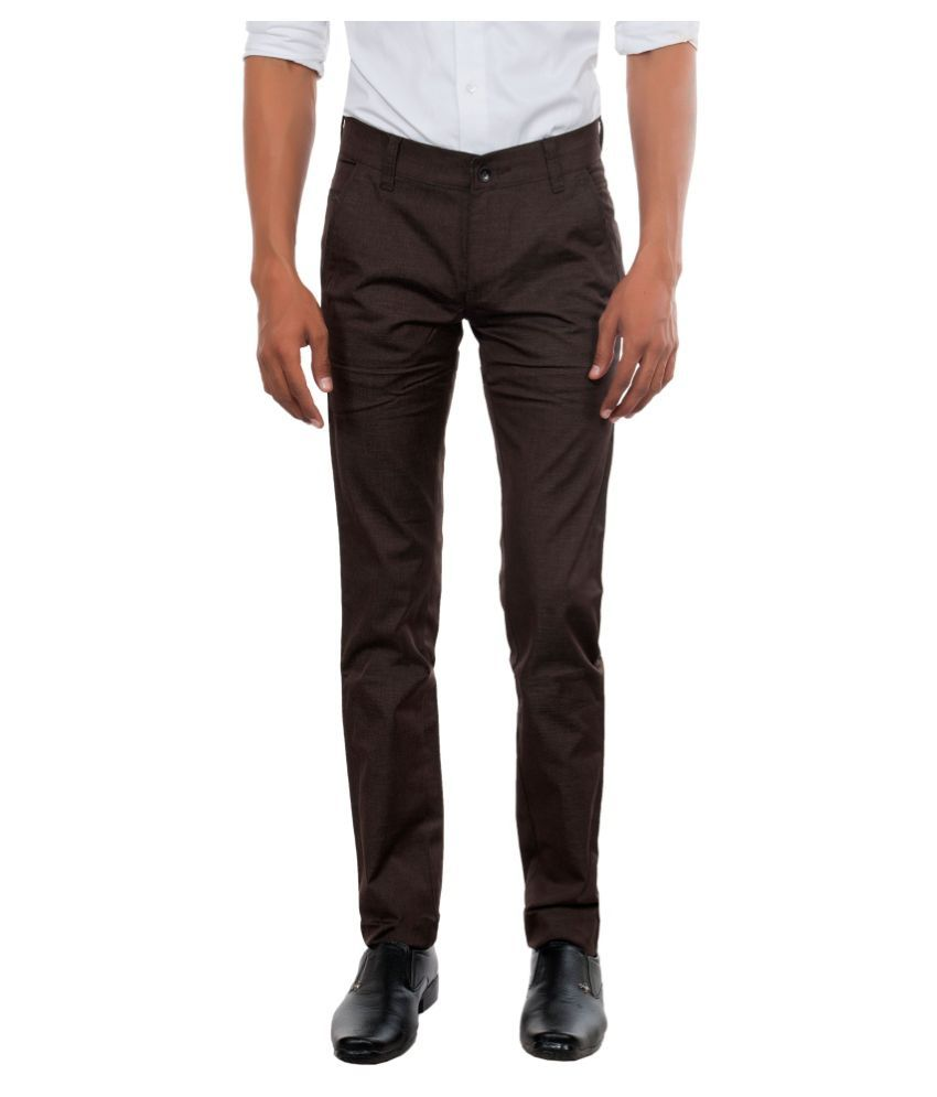 Killox Brown Regular Flat Trouser