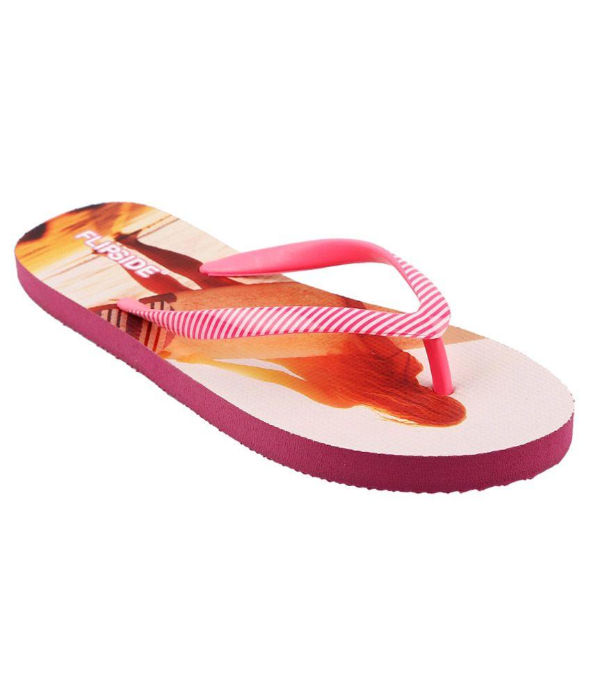 Flipside Womens Beach Pink Flipflops