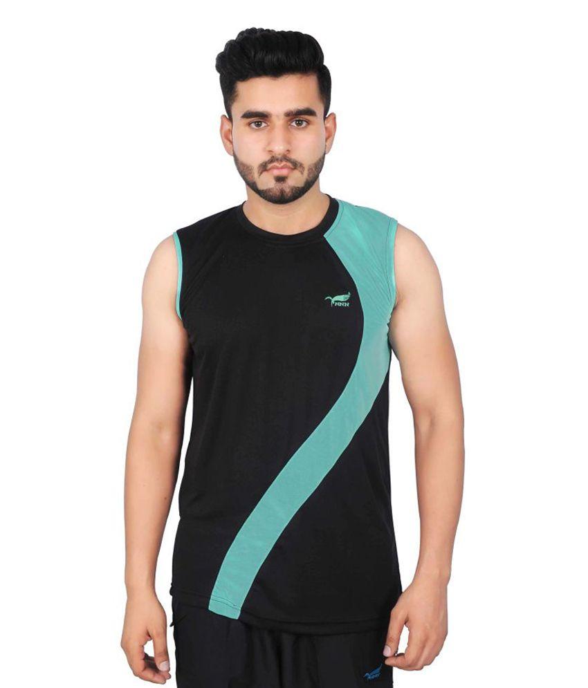 NNN Black Sleeveless Dry Fit Men's T-shirt