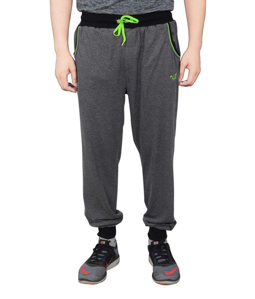 NNN Dark Grey Cotton Sports Men's Full Track Pant