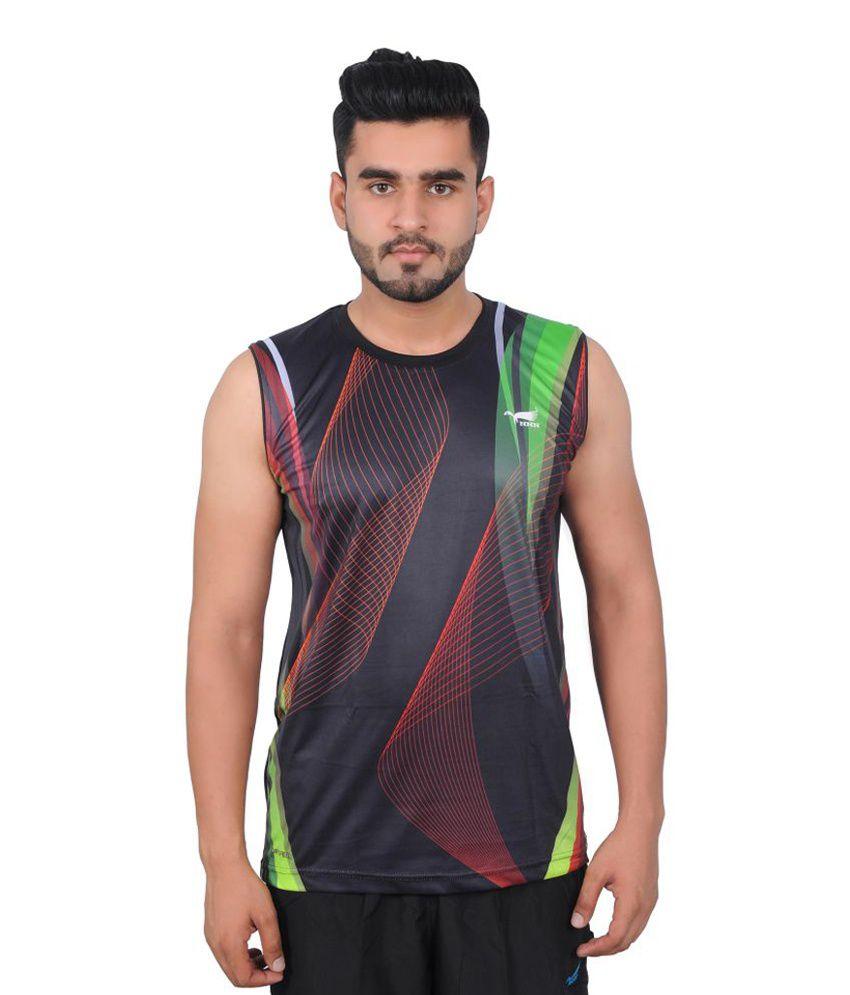 NNN Multicolour Sleeveless Dry Fit Men's T-shirt