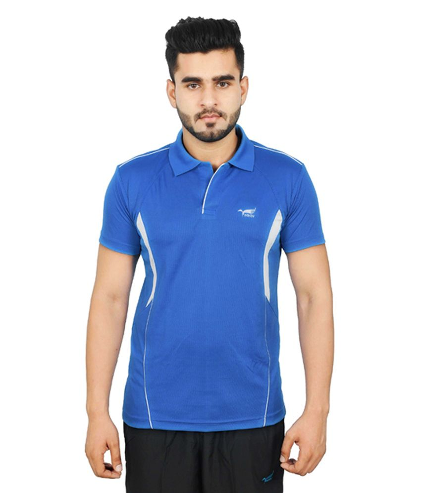 NNN Turquoise Blue Half Sleeves Dry Fit Men's T-shirt
