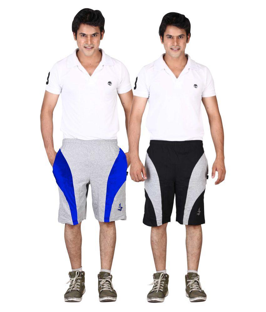 Vego Multi Shorts Pack of 2