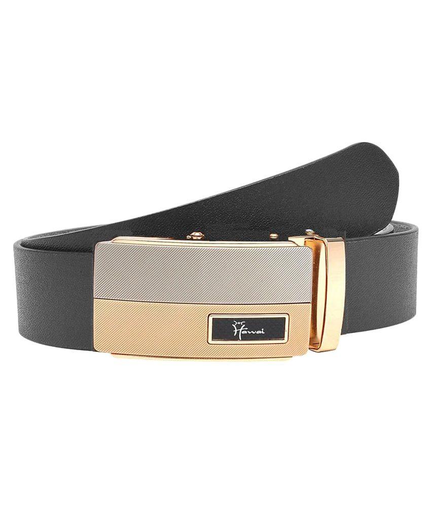 Hawai Black Leather Formal Belts
