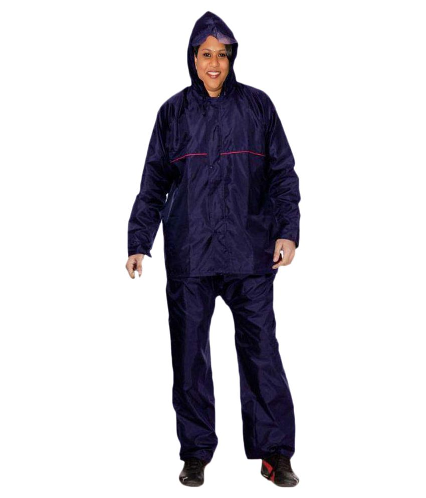 La Polo Blue Polyester Raincoat Set