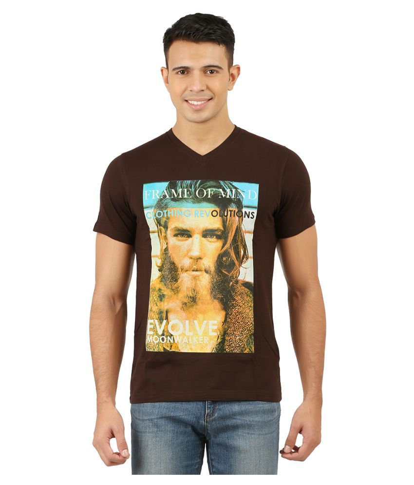Moonwalker Brown V-Neck T-Shirt