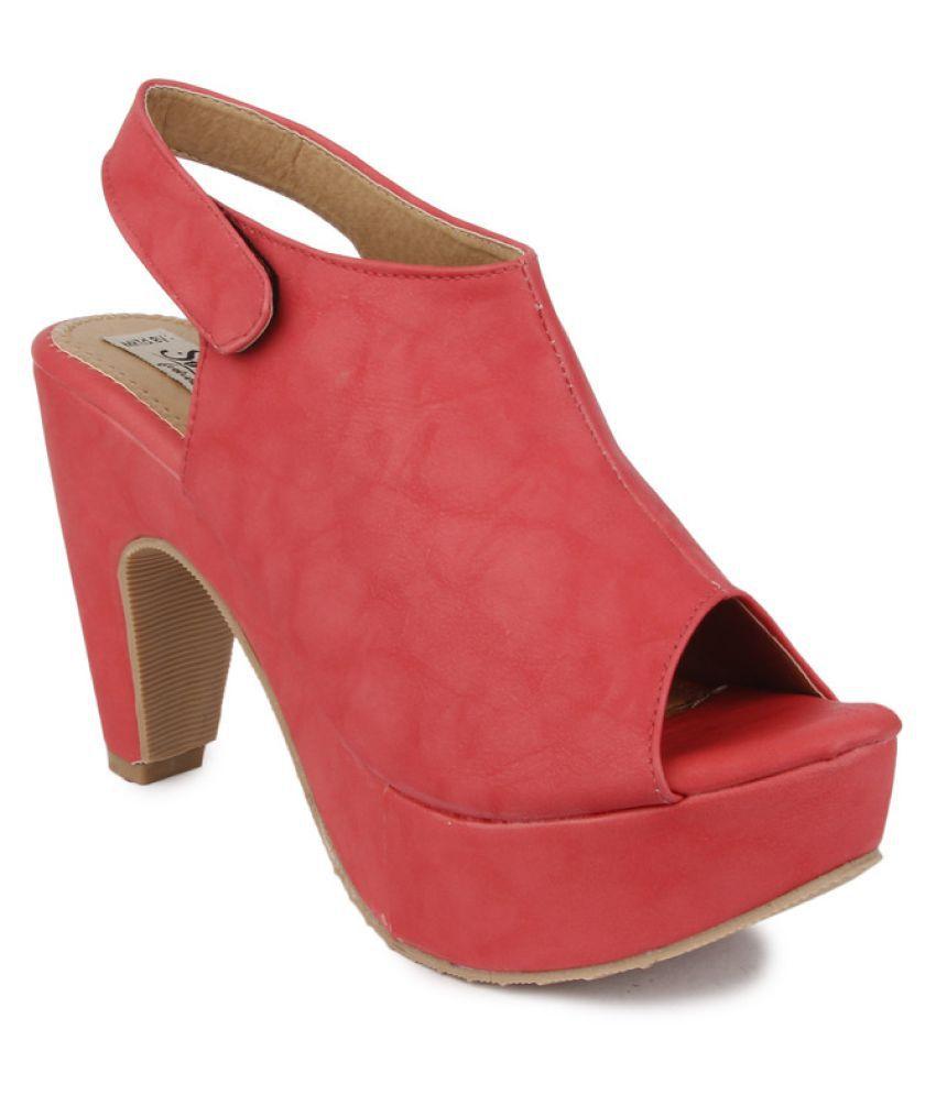 Sindhi Footwear Pink Block Heels