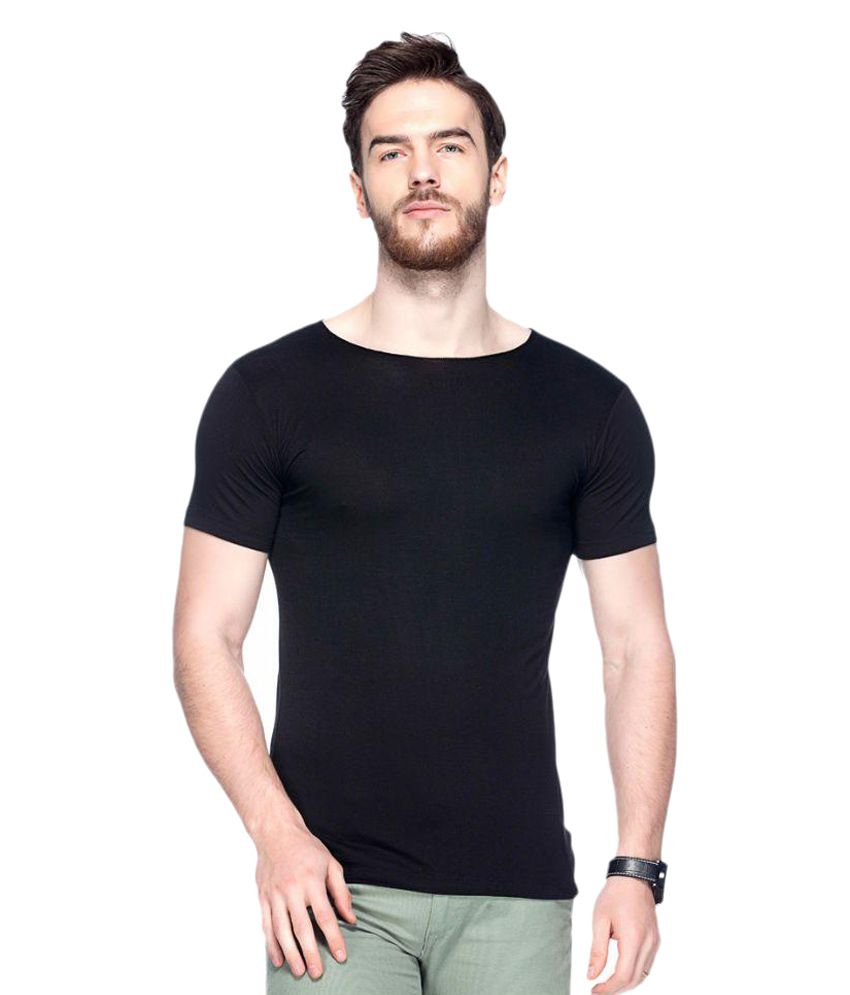 Tinted Black Round T-Shirt