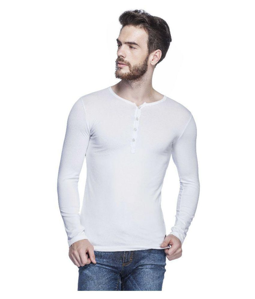 Tinted White Henley T-Shirt