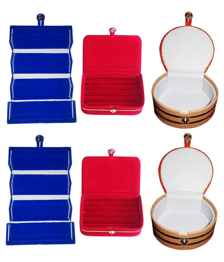 Abhinidi Combo Of 2 Ring Boxes, 2 Earring Boxes and 2 Bangle Boxes