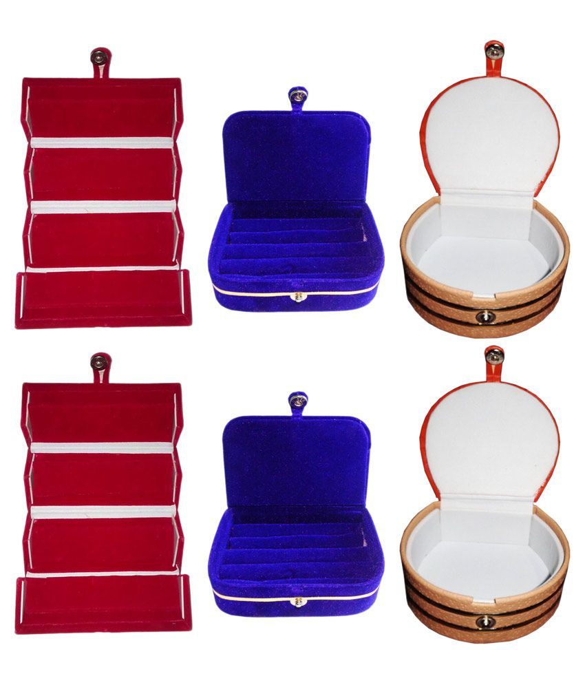 Abhinidi Combo Of 2 Ring Boxs, 2 Earring Boxs And 2 Bangle Boxs