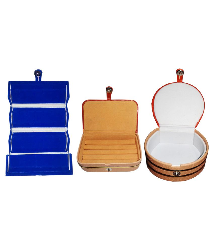 Abhinidi Multicolour Wooden Jewellary Boxes - Set of 3