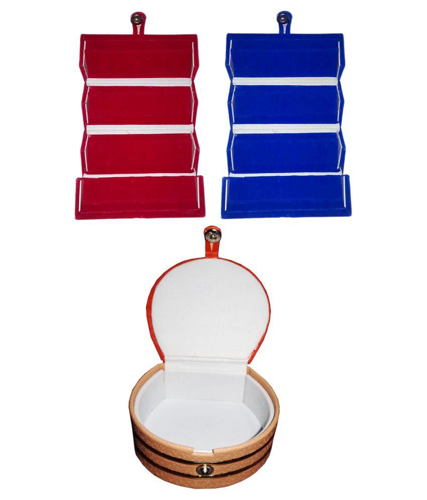 Abhinidi Multicolour Wooden Jewellary Boxes - Set of 3