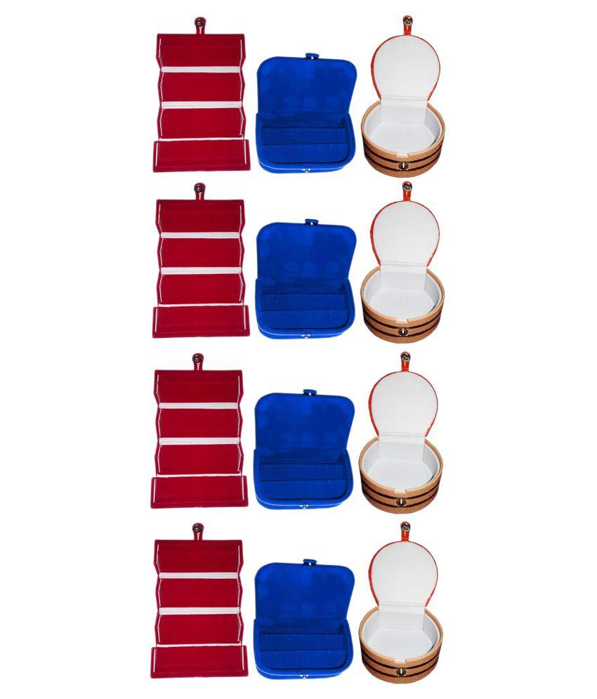 Abhinidi Multicolour Wooden Jewellery Box - Set of 12