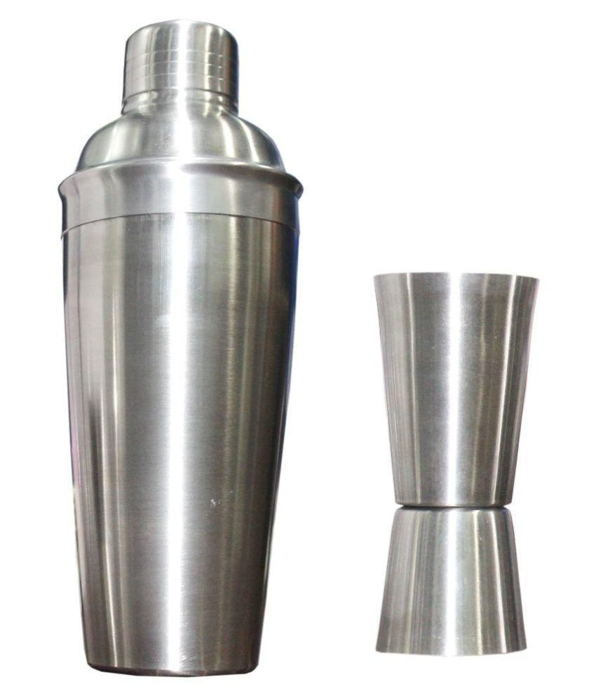 Scrazy Steel Cocktail Shaker with Bar