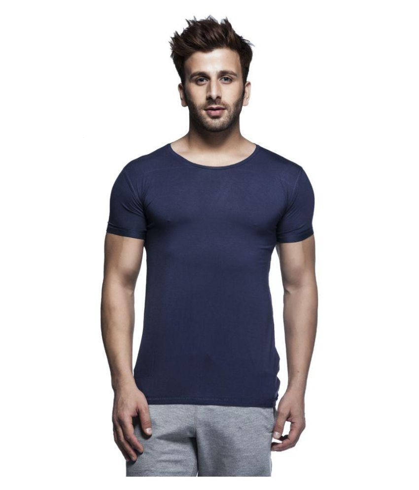 Tinted Navy Round T-Shirt