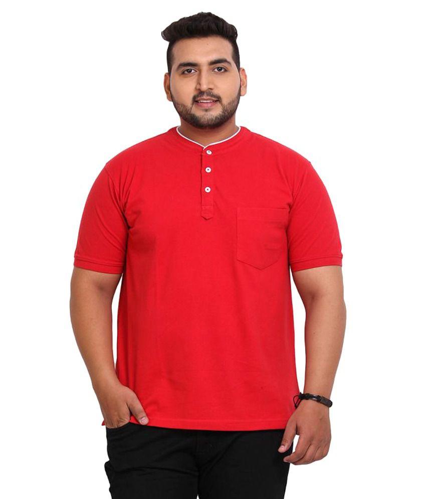 John Pride Red Henley T-Shirt