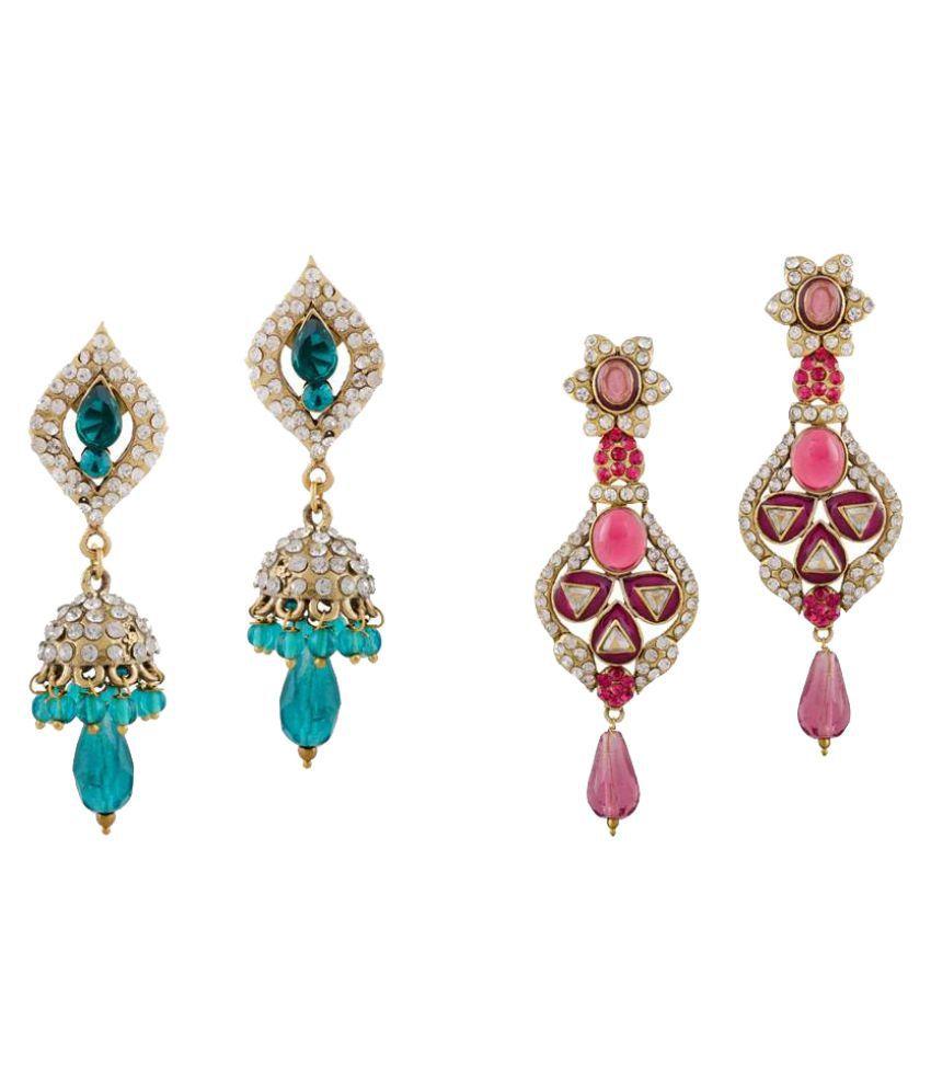 Screation Multicolour Earrings Combo