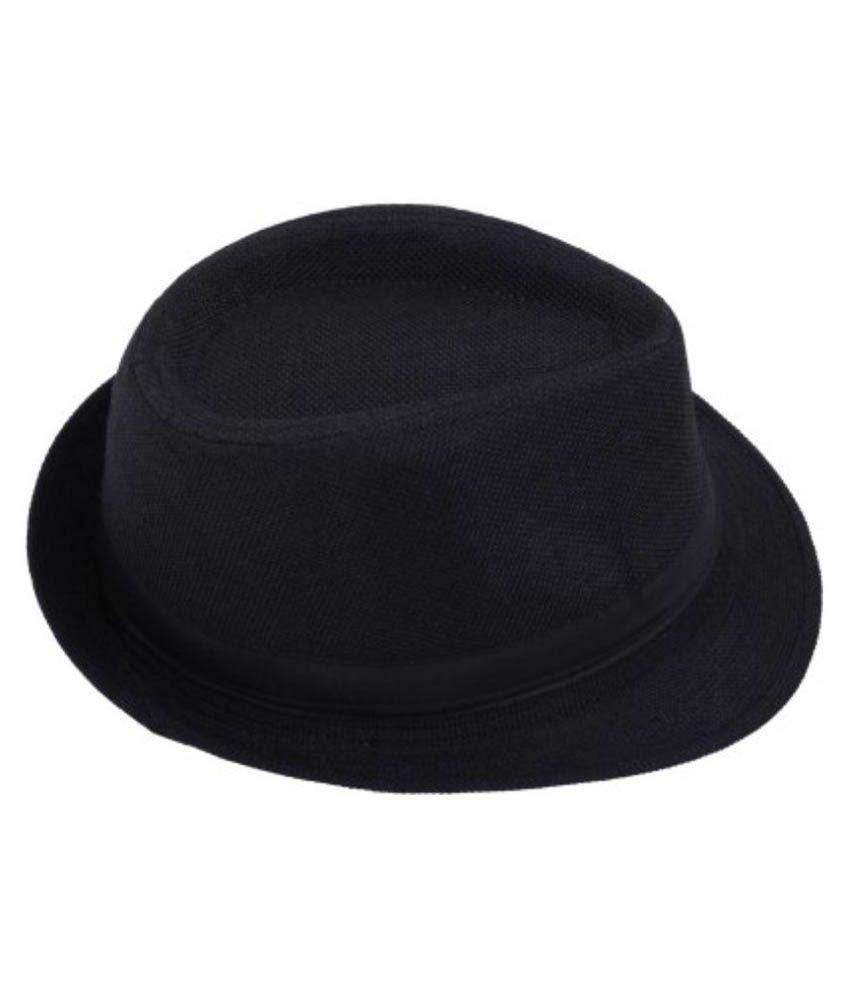 The Beach Company Black Plain Polyester Hats