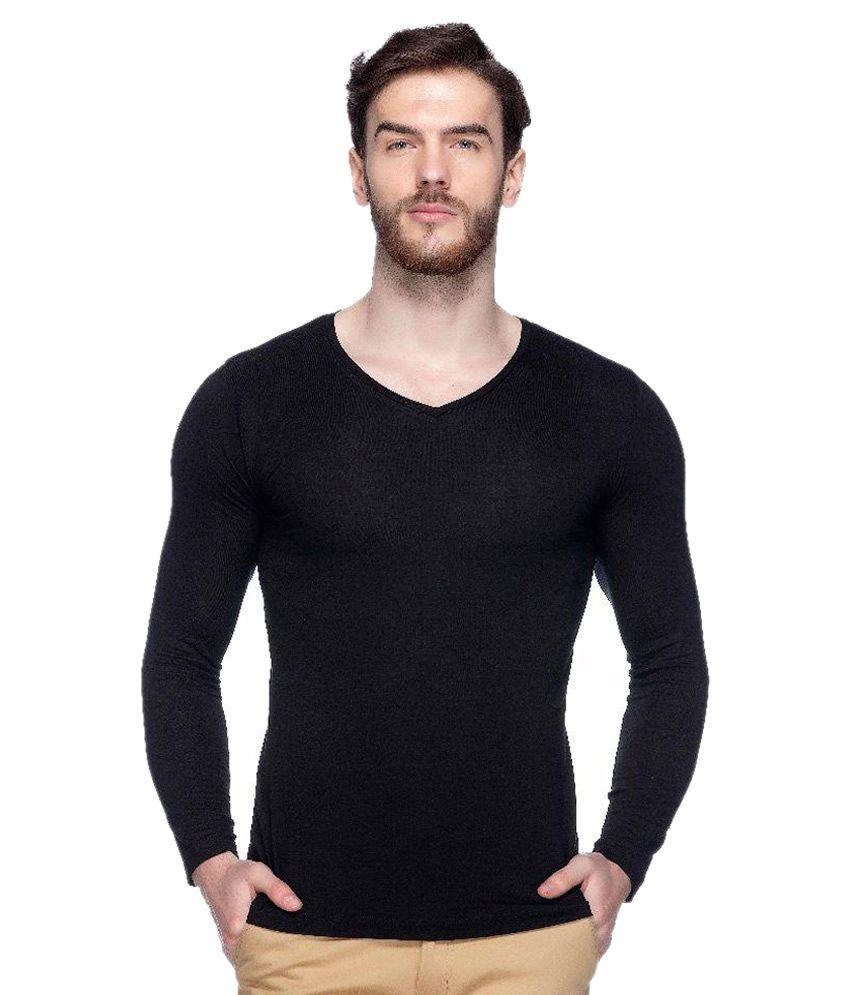 Tinted Black V-Neck T-Shirt
