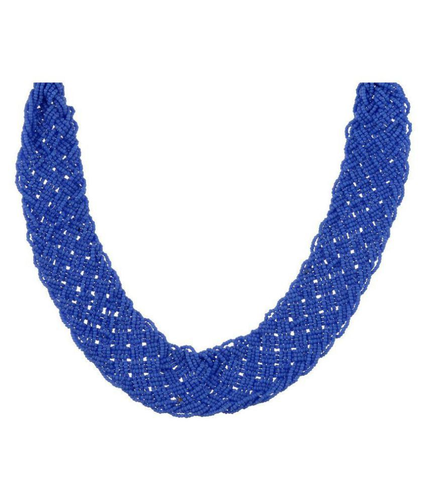 Nits Trend Blue Alloy Necklace Set for Women