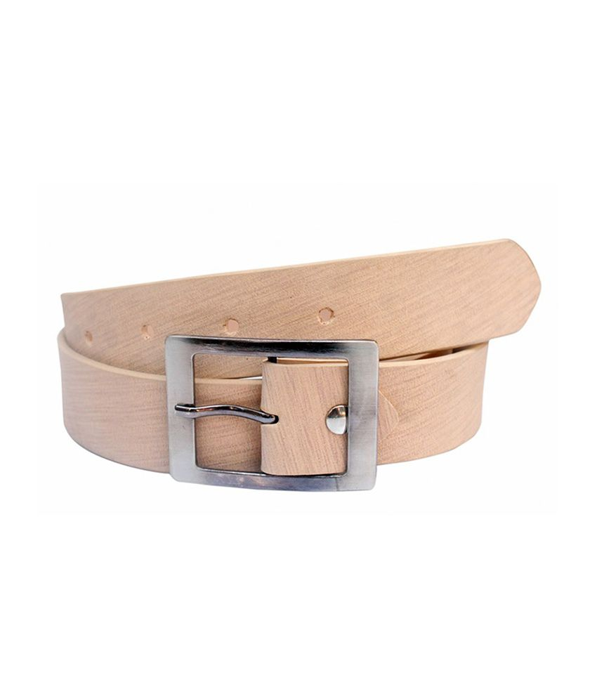 Winsome Deal Beige PU Formal Belts
