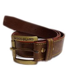 Woodland Brown Faux Leather Formal Belts
