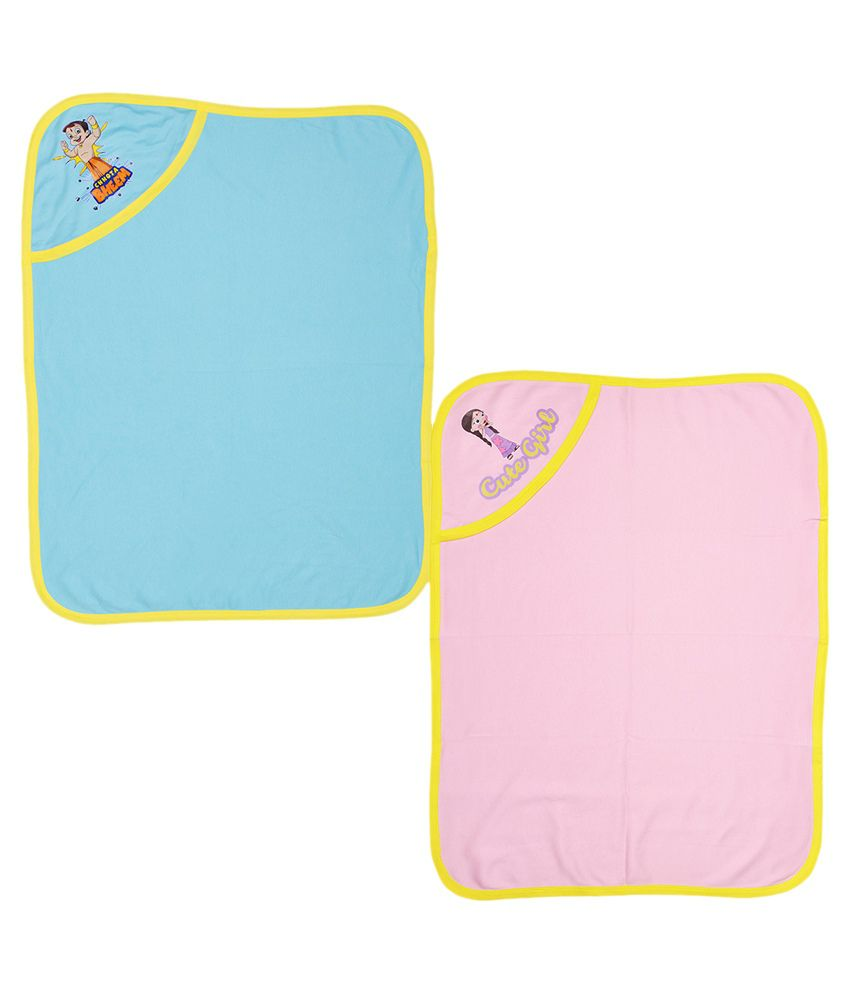 Chhota Bheem Multicolor Cotton Baby Wrapper  - Pack of 2