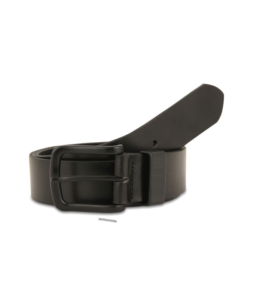 Rhinoceros Black Leather Formal Belts