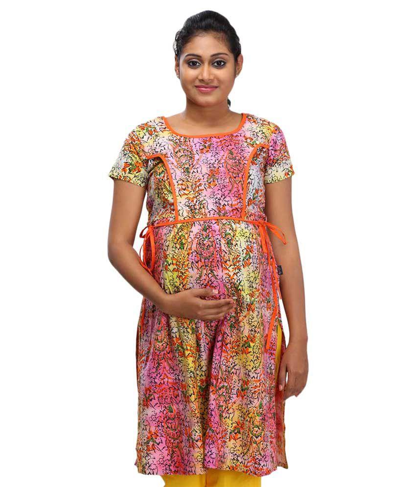 Buy ziva maternity wear multi color cotton kurtis online at best ziva maternity wear multi color cotton kurtis ombrellifo Choice Image