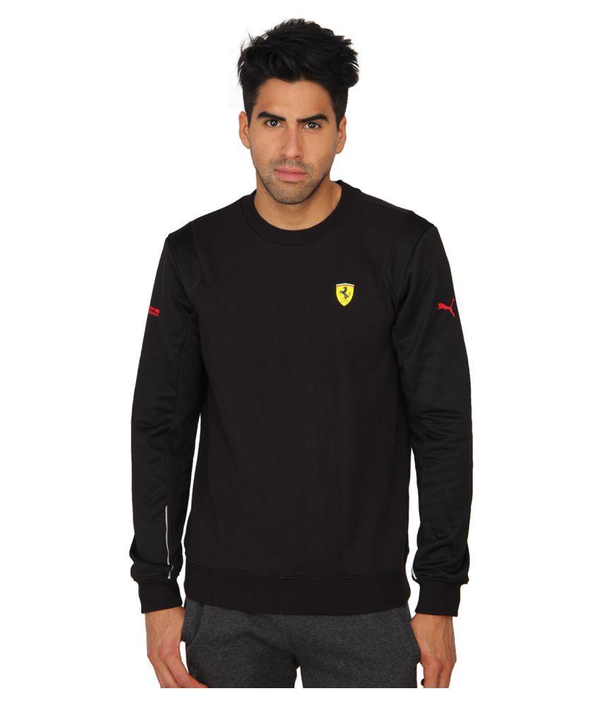 Puma Black Cotton Men Sweatshirt