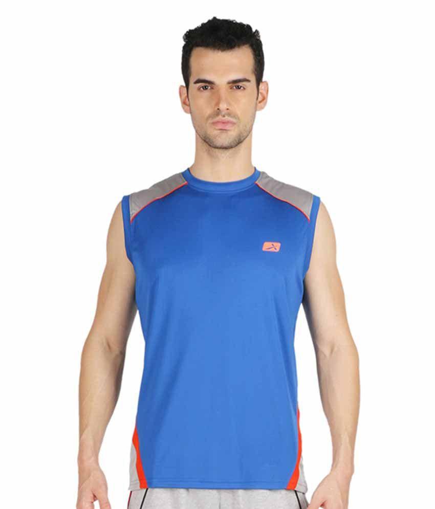 Vector X Blue Polyster T-Shirt