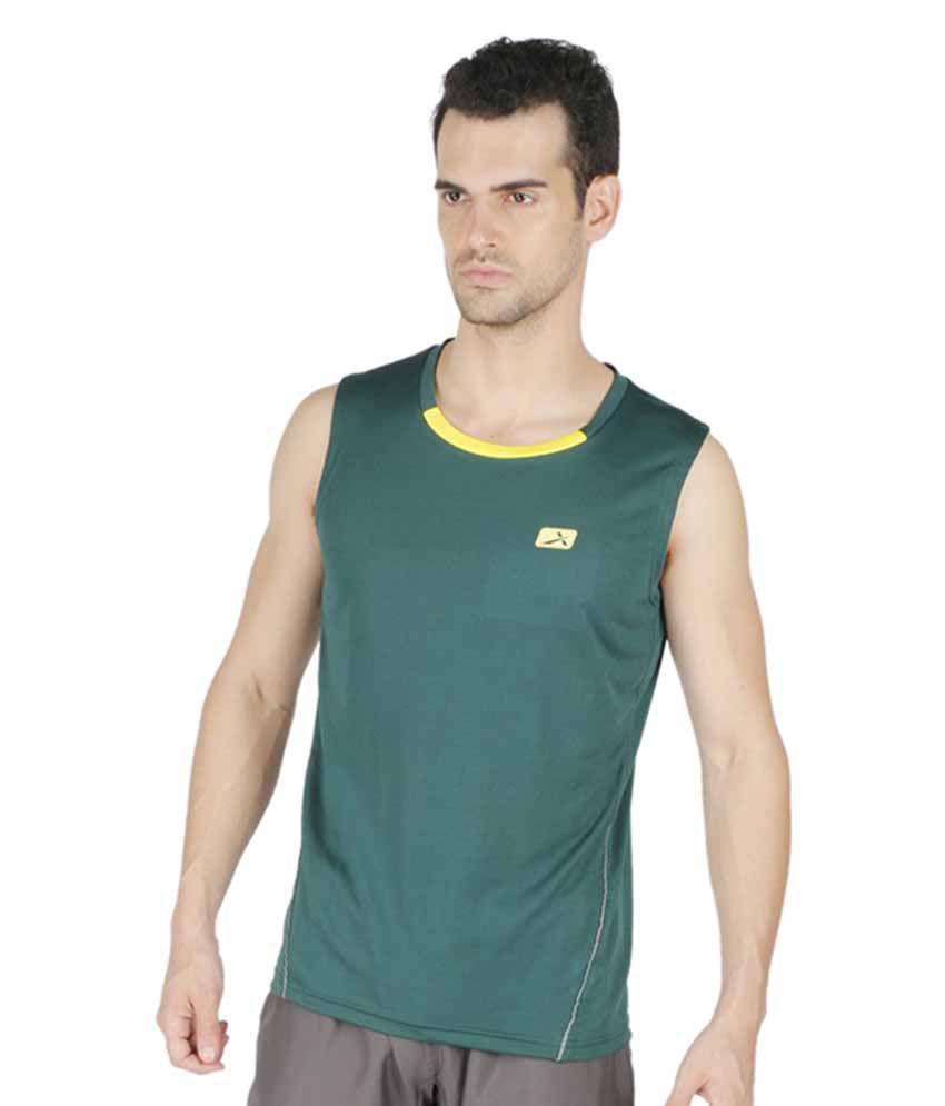 Vector X Dark Green Polyster T-Shirt