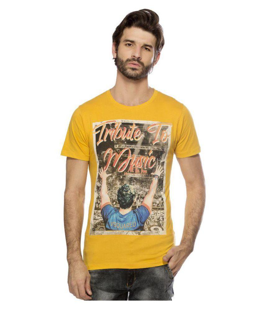 Yo Republic Yellow Round T-Shirt