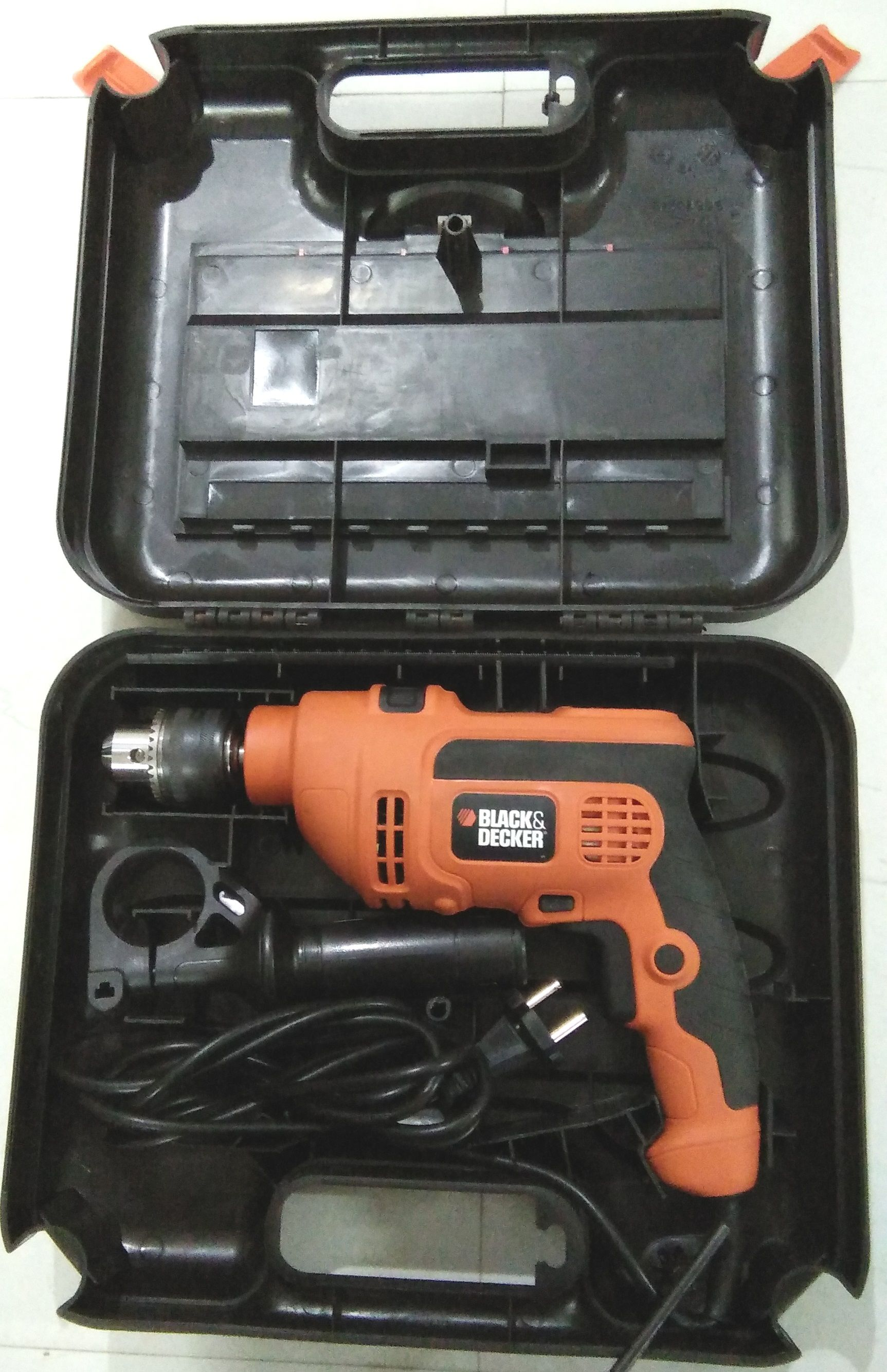 black and decker hammer drill. black \u0026 decker 30 kr704rek-in 710w corded hammer drill 15 pc and a