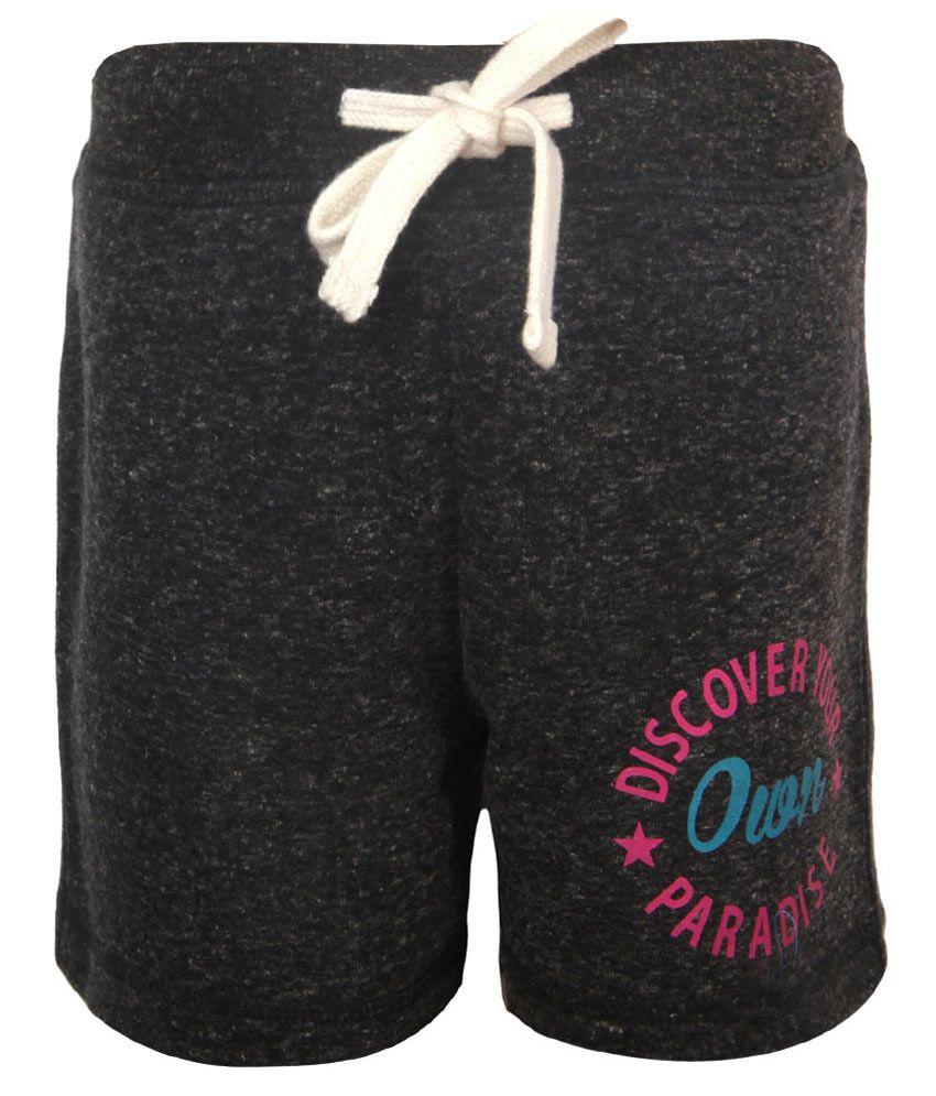 Vitamins Gray Printed Regular Fit Shorts