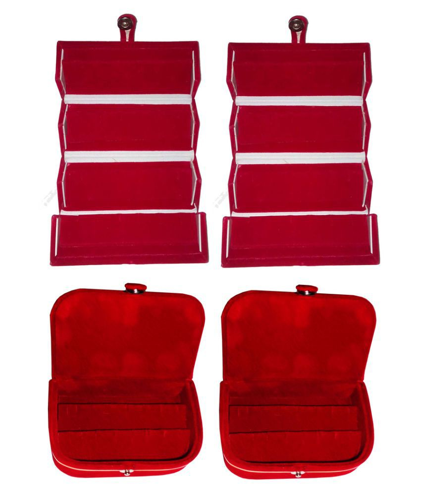 Abhinidi Red Jewelley Box - Set of 4