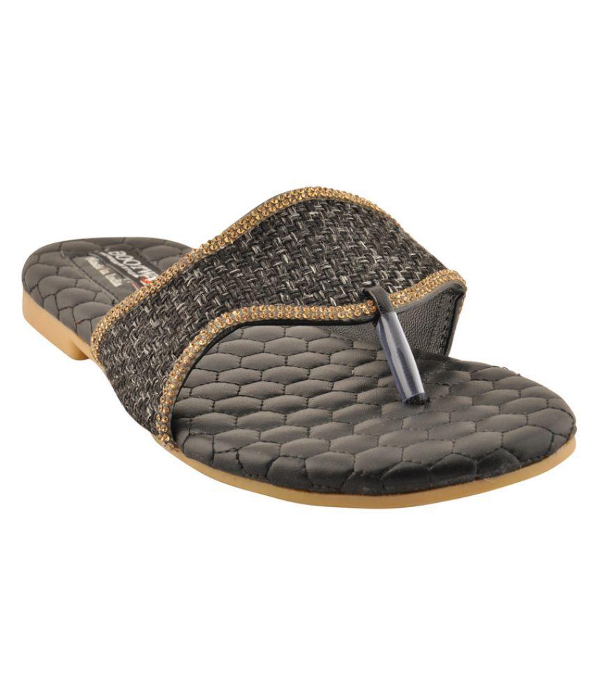 Bootwale Black Flats