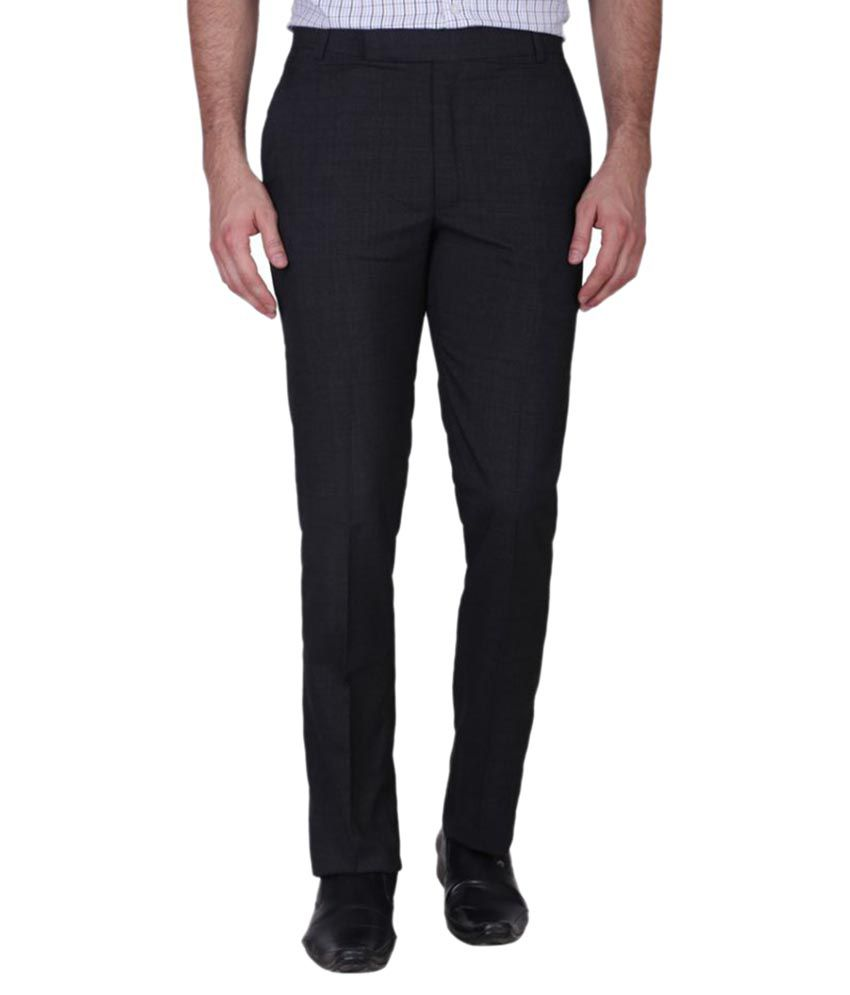 Minditdaddy Black Slim Flat Trouser