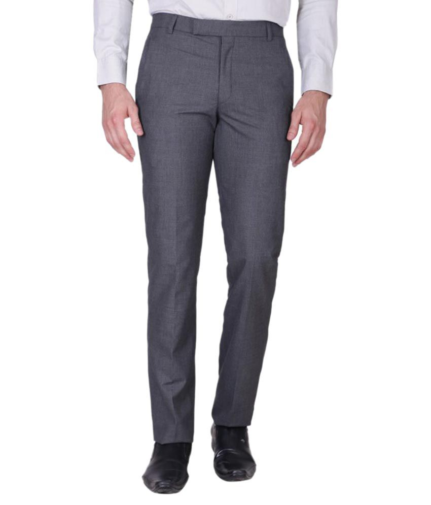 Minditdaddy Grey Slim Flat Trouser