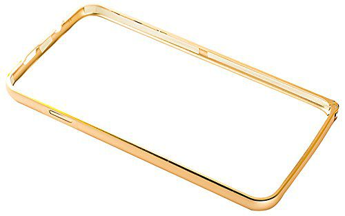 Video Tronix Slim Aluminium Metal Bumper Rim Frame Cover for Samsung Galaxy Grand Max Grand 3 G7200  Gold