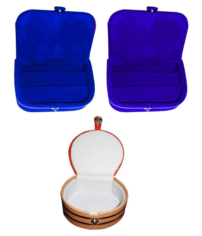 Abhinidi Combo of Multicolour Two Earring Box & One Vanity Case