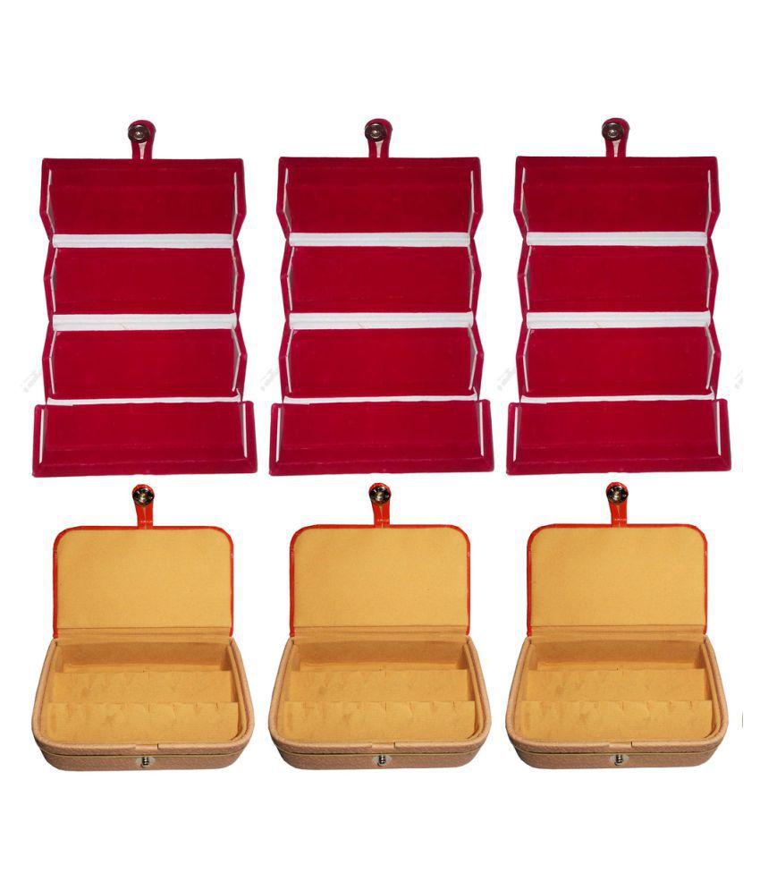 Abhinidi Multicolour Wooden Jewellary Boxes - Set of 6