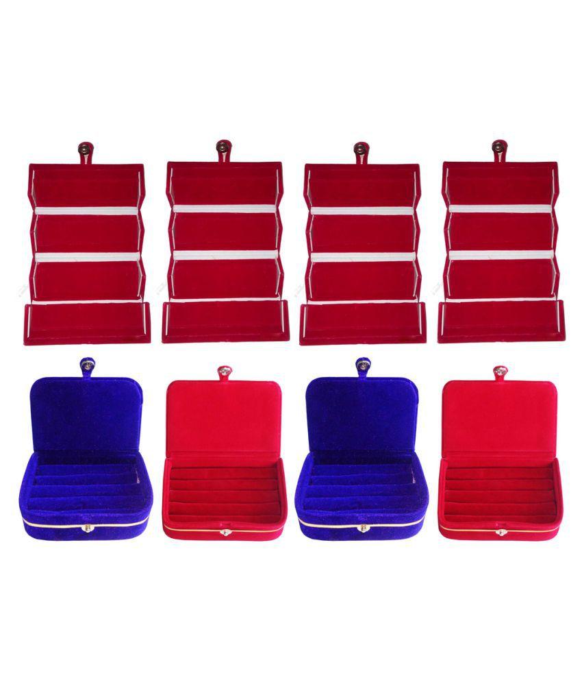 Abhinidi Multicolour Wooden Jewellery Box - Set of 8