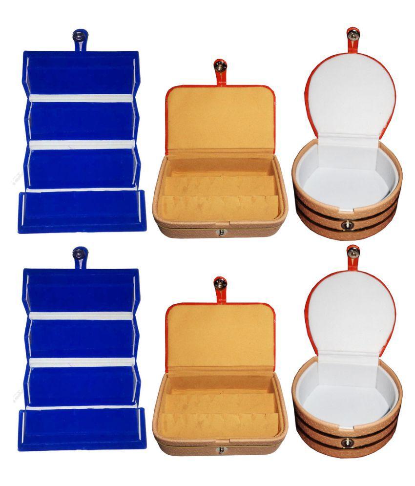 Abhinidi Multicolour Wooden Jewellery Box - Set of 6
